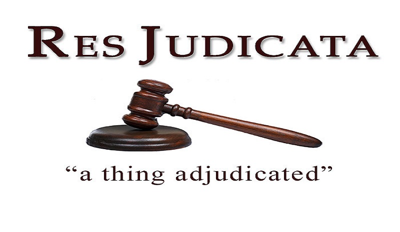 Res judicata: The finality of judicial decisions.